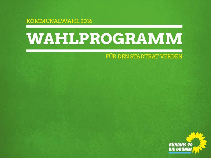 Wahlprogramm für die Stadt Verden