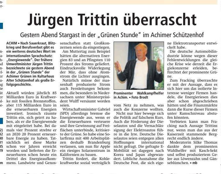 Artikel Kreiszeitung