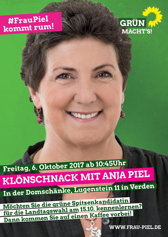 Anja Piel – Spitzenkandidatin für NDS – in Verden | Bündnis 90/Die ...
