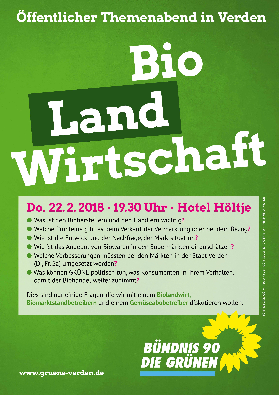 Themenabend BIO-land-WIRTSCHAFT @ Hotel Höltje | Verden (Aller) | Niedersachsen | Deutschland