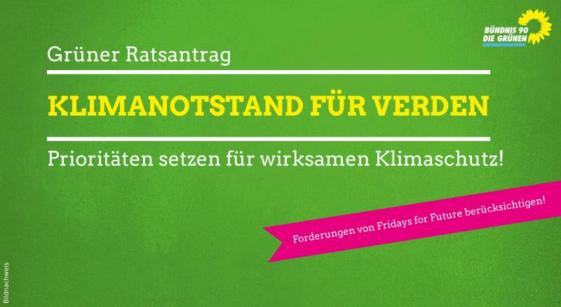 Grüne fordern Klimanotstand