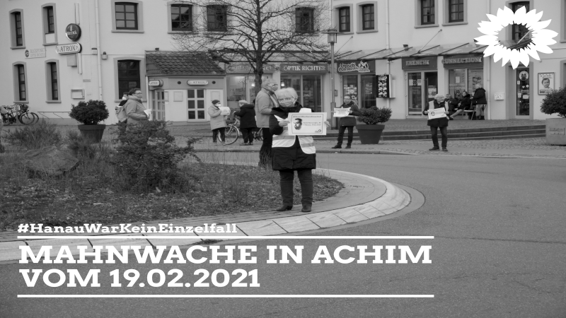 Mahnwache in Achim zum Gedenken der Opfer von Hanau