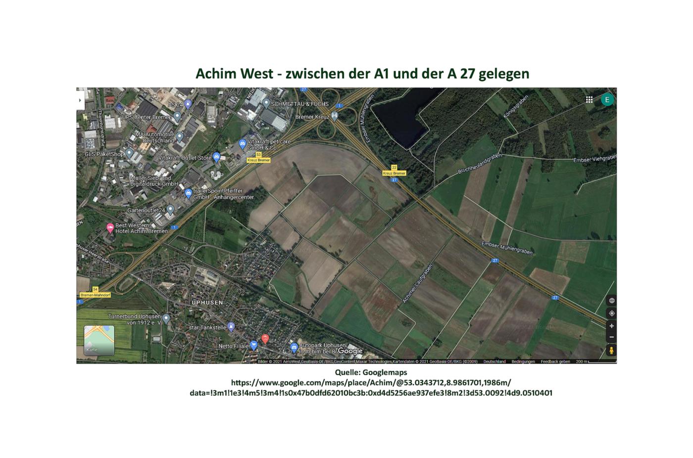 Achim-West: Zu viel Verkehr, zu viel Flächenverbrauch, zu teuer