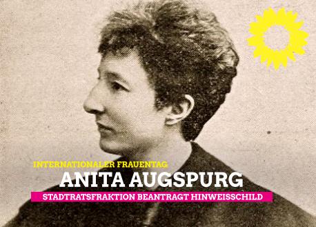 Stadtratsfraktion Verden:  Hinweistafel am Geburtshaus von Anita Augspurg beantragt