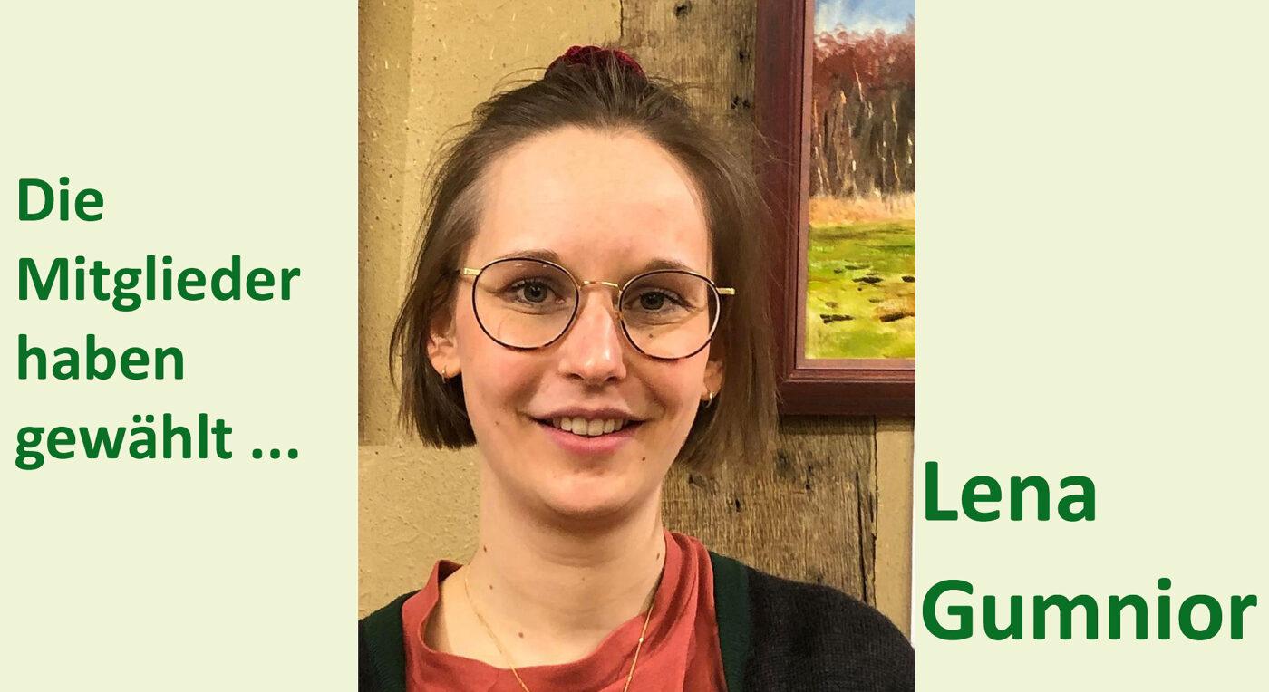 Lena Gumnior unsere  Direktkandidatin